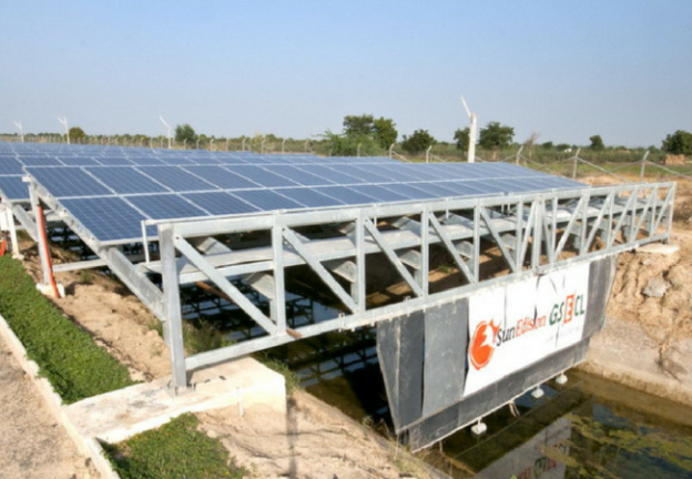 Solar canal bank