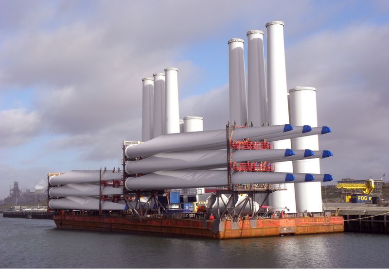 Shipping wind turbines