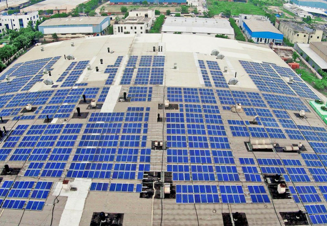 Under-Construction Rooftop Solar Project