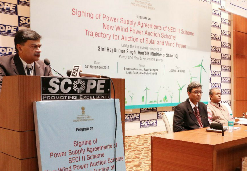 Power Sale Agreement for 1 GW Wind signed SECI