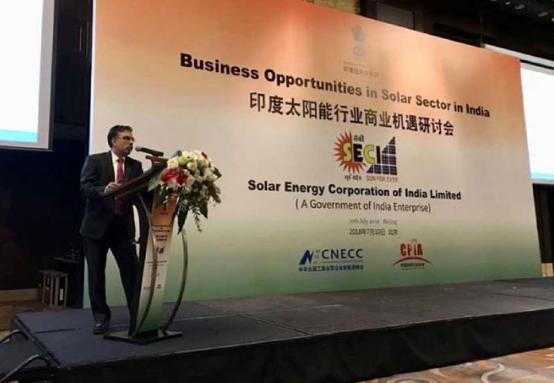 SECI Meets Chinese Investors, Asks them to Set up Solar Manufacturing Units in India