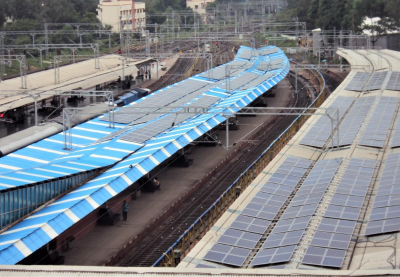 Indian Railways Ramps Up its Efforts to Utilize Solar Power