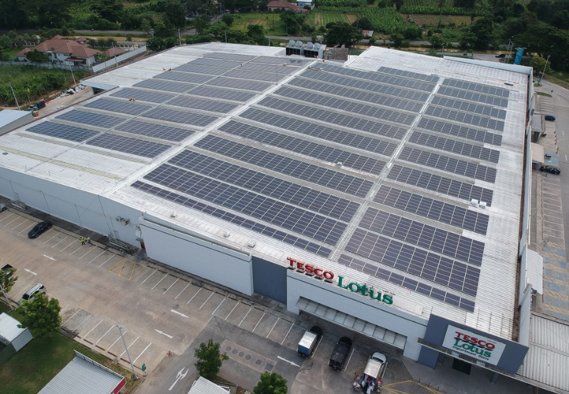 Tesco Lotus To Install Solar Rooftop Systems Across 19 Stores in Thailand