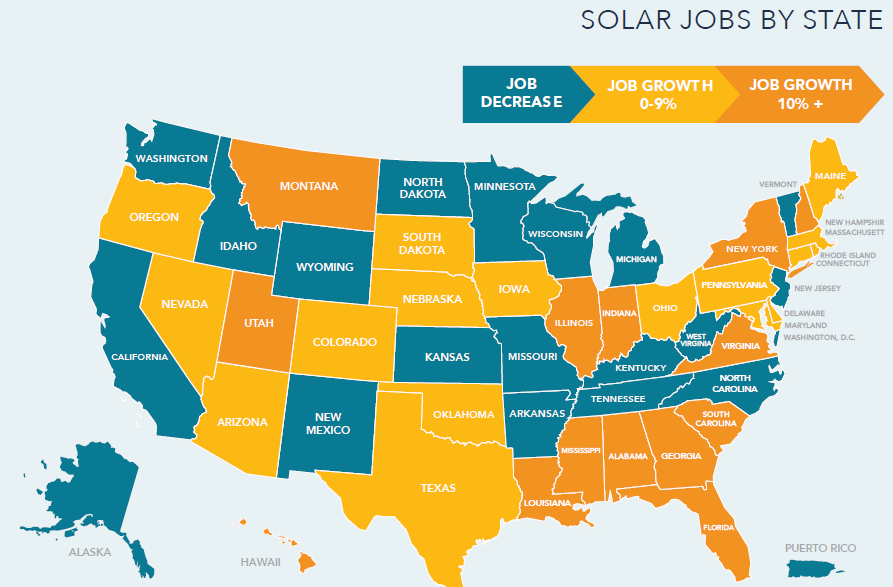 Solar Jobs by State