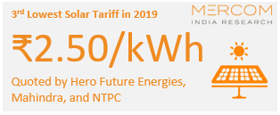 3rd Lowest Solar Tariff in 2019