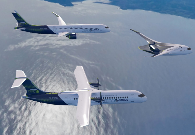 Airbus Plans Hydrogen-Powered Commercial Aircraft by 2035